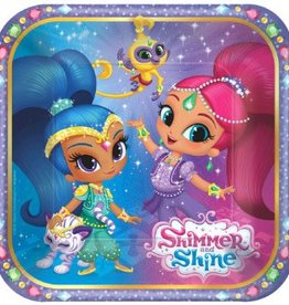 Amscan ASSIETTES 7PO - SHIMMER AND SHINE (8)
