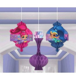 Amscan DÉCORATIONS EN NID D'ABEILLE - SHIMMER AND SHINE (3)