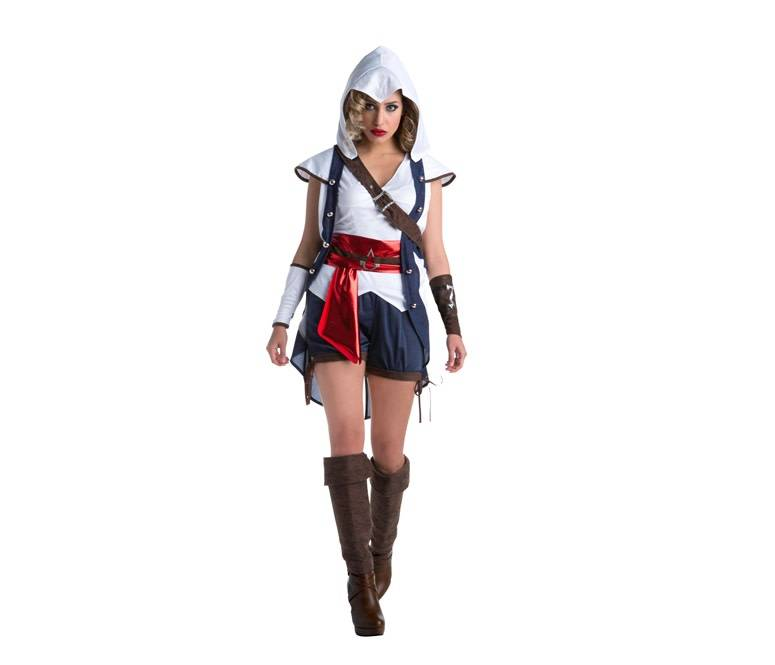 PALAMON COSTUME ADULTE FEMME ASSASSIN'S CREED III - CONNOR