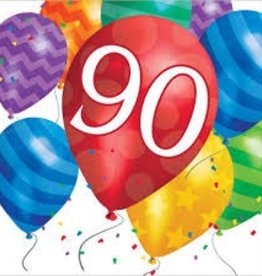 Creative Converting SERVIETTES DE TABLE - BALLONS 90 ANS  (16)