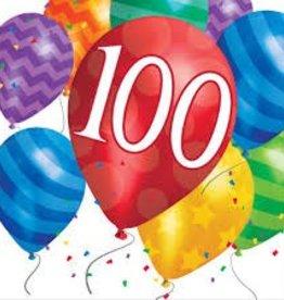 Creative Converting SERVIETTES DE TABLE (16) - BALLONS 100 ANS