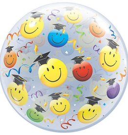 Qualatex BALLON BUBBLE GRADUATION EMOJI