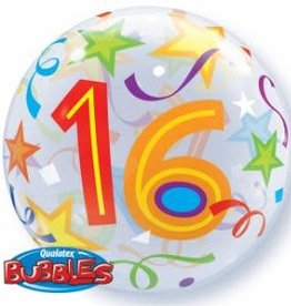 Qualatex BALLON BUBBLES 16 COLORÉ