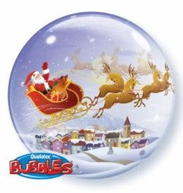 Qualatex BALLON BUBBLES TRAINEAU DE NOEL
