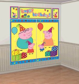 Amscan ENSEMBLE DE DÉCORATIONS MURALE - PEPPA PIG