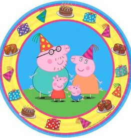 Amscan ASSIETTES 7PO - PEPPA PIG (8)
