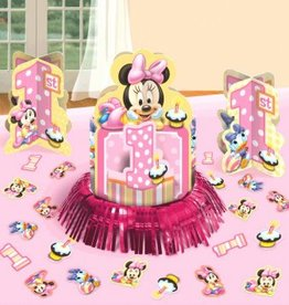 Amscan ENSEMBLE DE DÉCORATIONS DE TABLE - DISNEY MINNIE 1 AN