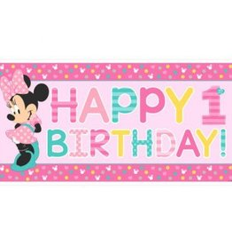 Amscan BANDEROLE HAPPY BIRTHDAY 34PO X 65PO DISNEY MINNIE 1 AN