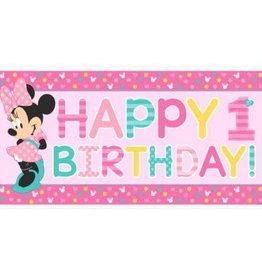 Amscan BANDEROLE HAPPY BIRTHDAY 34PO X 65PO DISNEY MINNIE 1 AN