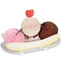 Beistle Co. CENTRE DE TABLE - BANANA SPLIT