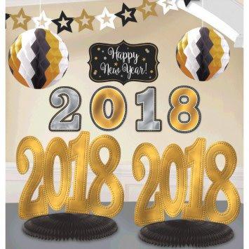 Amscan kit de d corations pour pi ce 2018 nouvel an for Decoration nouvel an 2018