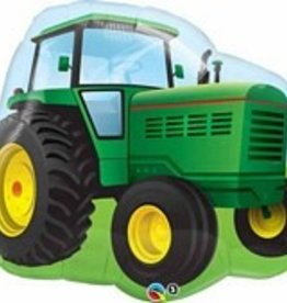 Qualatex BALLON MYLAR SUPERSHAPE - TRACTEUR VERT