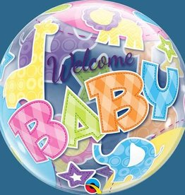 Qualatex BALLON BUBBLES WELCOME BABY