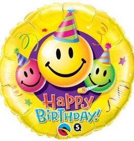 Qualatex BALLON MYLAR MINI SHAPE - EMOJI HAPPY BIRTHDAY