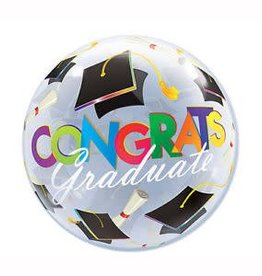 Qualatex BALLON BUBBLES CONGRATS