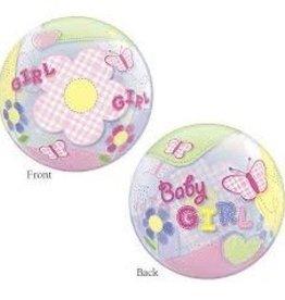 Qualatex BALLON BUBBLE BABY GIRL
