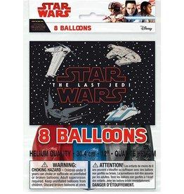 Unique SAC DE BALLONS LATEX 12'' (8) - STAR WARS VIII
