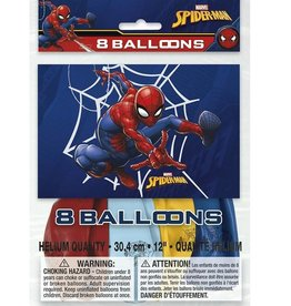 Unique SAC DE 8 BALLONS 12PO - SPIDERMAN