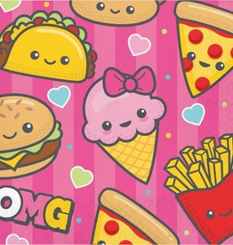 Creative Converting SERVIETTES DE TABLE (16) - PARTY JUNKFOOD