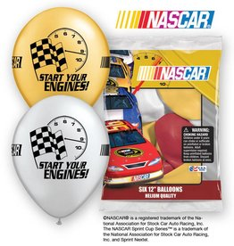 Unique SAC DE 6 BALLONS LATEX 12'' - NASCAR