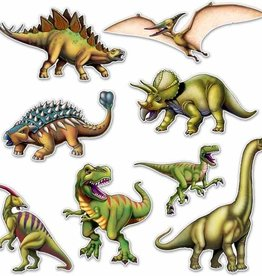"Beistle Co. DÉCOUPAGES DINOSAURES 10""-19"" (8) - SAFARI / DINOSAURES"