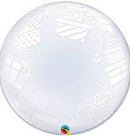 Qualatex BALLON BUBBLES TRANSPARENT - MOTIFS CADEAU 24PO