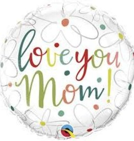 *BALLON MYLAR 18PO LOVE YOU MOM