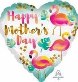 Anagram *BALLON MYLAR 18PO HAPPY MOTHER'S DAY FLAMANT ROSE