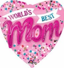Anagram BALLON MYLAR SUPERSHAPE 3D- WORLD'S BEST MOM