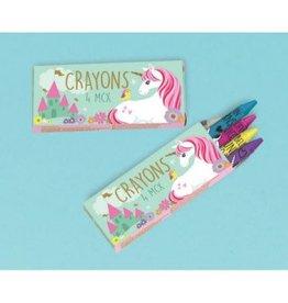 Amscan BOITES DE CRAYON (6) - LICORNE MAGIQUE