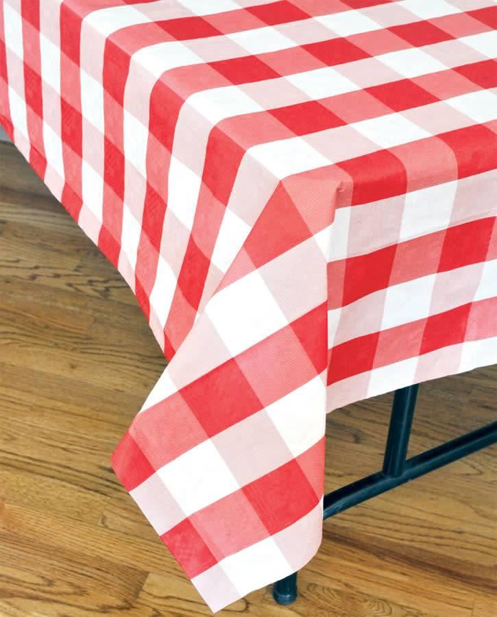 havercamp nappe de papier doubl e motif carreaux rouge party shop. Black Bedroom Furniture Sets. Home Design Ideas