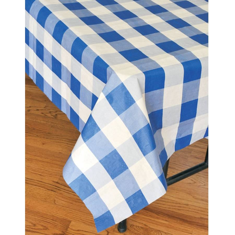 havercamp nappe de papier doubl e motif carreaux bleu party shop. Black Bedroom Furniture Sets. Home Design Ideas