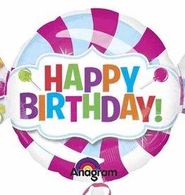 Anagram *BALLON MYLAR SUPERSHAPE - BONBON HAPPY BIRTHDAY