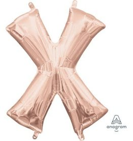"Anagram BALLON MYLAR 16"" - X ROSE GOLD"