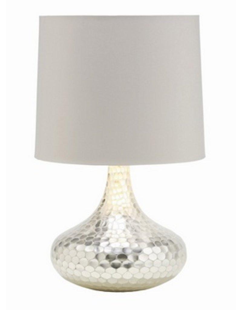 Tortoise Silver Bottle Neck Lamp 23Hx14.5Dia