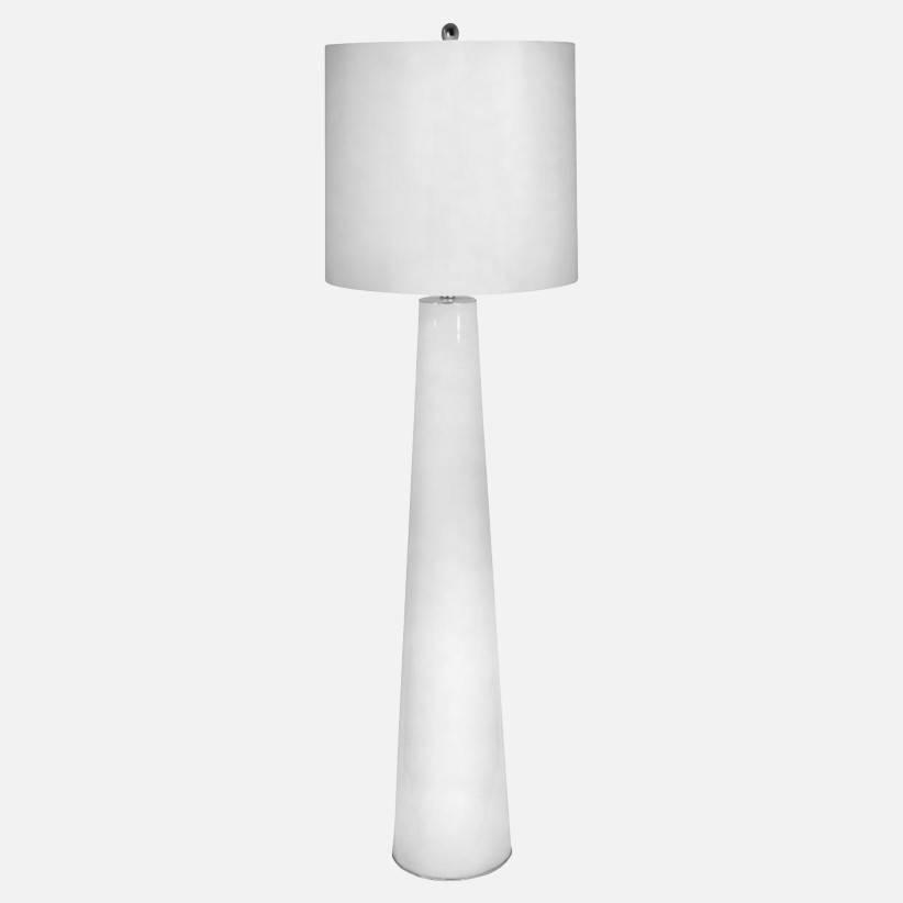 White Obelisk Floor Lamp 58H17W3Way