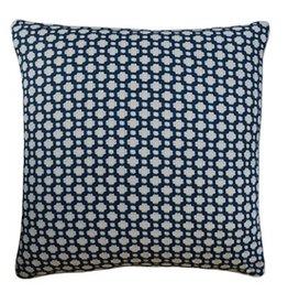 14X20 Pillow Betwixt Indigo Piped