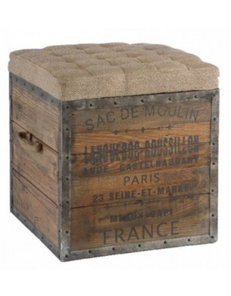 Sac De Moulin Wodden Cube 18SQ18H - Brook Taylor Interiors