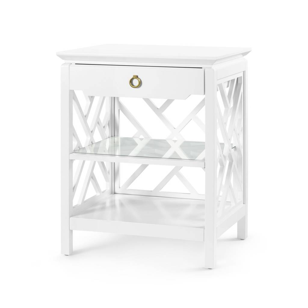 Nantucket 1-Drawer Side Table White 25W20D30.5H