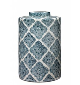 Large Oran Canister Blue & White
