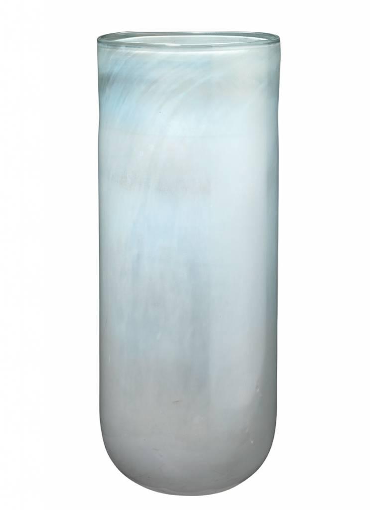 Large Vapor Vase Metallic Opal