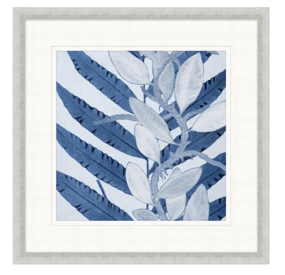 Layered Indigo Foliage 2 - 24x24