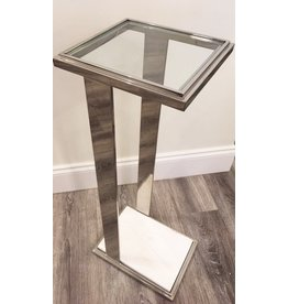 Stainless Steel Drink Table 8W11D26H