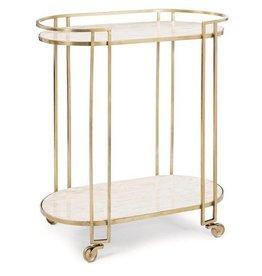 Clubroom Bar Cart 17.25L32.5W34.5H