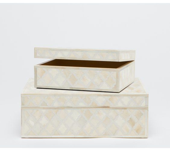 Malik Ivory Box-Large 13L10W5H