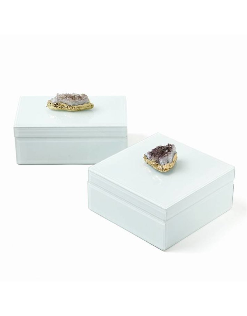 Amethyst Geode Hinged Box Small 6.25L6.25W3H