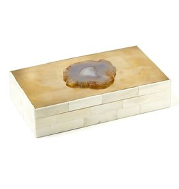 Genuine Agate Covered Box 9W5D2H