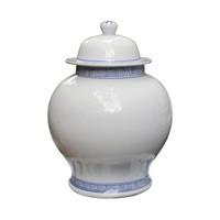 Temple Jar w/Greek Key