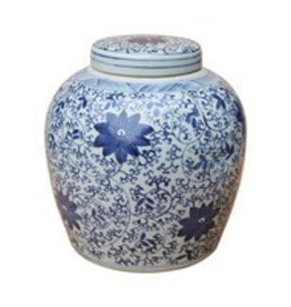 Twisted Vine Floral Ming Jar