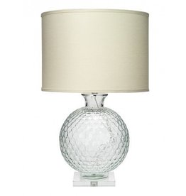 Clark Lamp - Clear w/Lucite Base 29H/18D